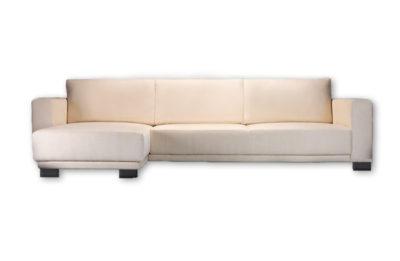 Rohová sedačka MILANO v krémovej farbe.