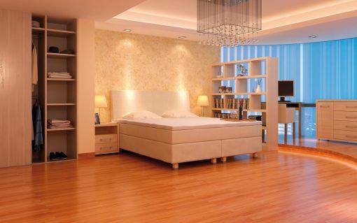 Kontinentálna posteľ ORIGINAL BOX BED v nádhernom interiéry.