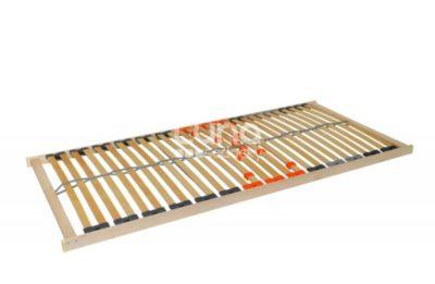 Masívny a moderný, pevný lamelový rošt s 28 lamelami šírky 38 mm.