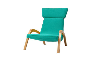 Dizajnové relaxačné kreslo JAZZ MAX v tyrkysovom čalúnení.