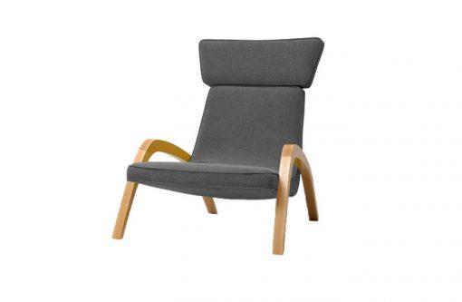 Dizajnové relaxačné kreslo JAZZ MAX v šedom čalúnení.