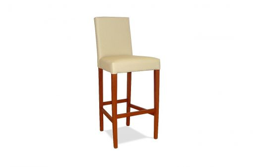 Pohodlná stolička HOME s dlhými drevenými nohami s operadlom, bez ručných opierok