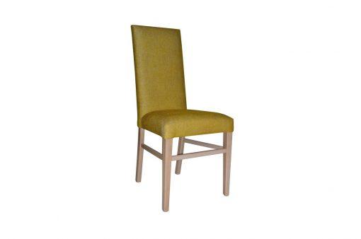 Pohodlná stolička HOME s dlhými drevenými nohami s operadlom,bez ručných opierok.