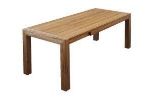 Rozkladací jedálenský stôl KOMO po rozložení.