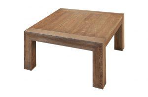 Spoločenský stôl Bigy s dizajnom pokosových bránok, dizajn Alojz Karpiš.
