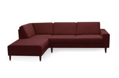 Dizajnová a nadčasová sedačka MANHATTAN s pohodlným sedením v bordovej farbe.