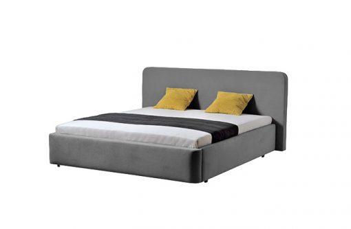 Moderná čalúnená posteľ SALERNO v šedej farbe,
