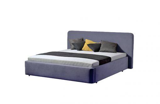 Moderná čalúnená posteľ SALERNO v modrej farbe,