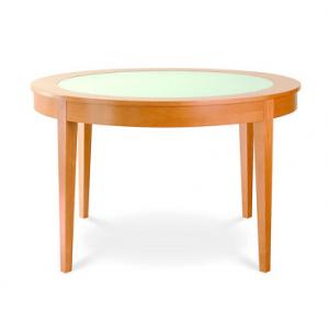 Okrúhly jedálenský drevený stôl, značka Brik.