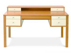Pracovný drevený stôl so zásuvkami, značka Brik.